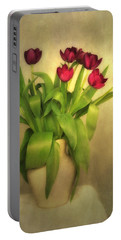 Glowing Tulips Portable Battery Charger