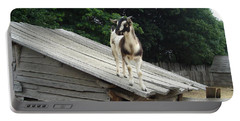Portable Battery Charger featuring the photograph Goat On The Roof by Kerri Mortenson