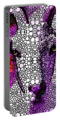 Goat - Pinky - Stone Rock'd Art By Sharon Cummings Portable Battery Charger