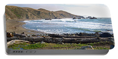 Goat Rock State Beach On The Pacific Ocean Near Outlet Of Russian River-ca  Portable Battery Charger