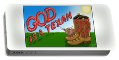God Is A Texan Portable Battery Charger