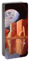 God Is In The Moon Portable Battery Charger by Art James West