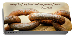 God Is My Strength Portable Battery Charger by Carolyn Marshall