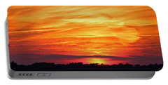 God Paints The Sky Portable Battery Charger by Cynthia Guinn