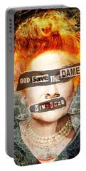 God Save The Dame - Vivienne Westwood Portrait Portable Battery Charger by Big Fat Arts