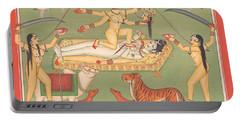 God Shiva Shankar Goddess Kali Tantric Artwork Miniature Painting Hindu Art Gallery Portable Battery Charger