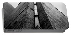 Goddard Stair Tower - Black And White Portable Battery Charger by Joseph Skompski