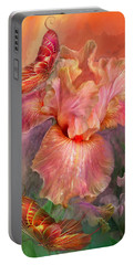 Goddess Of Spring Portable Battery Charger by Carol Cavalaris