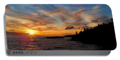 Portable Battery Charger featuring the photograph God's Morning Painting by Bonfire Photography