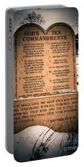God's Ten Commandments Portable Battery Charger