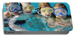 Portable Battery Charger featuring the photograph Goggle Eyed Quartet by David Nicholls