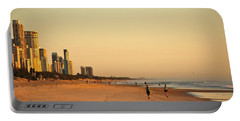 Portable Battery Charger featuring the photograph Gold Coast Beach by Eric Tressler