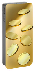 Gold Coins Portable Battery Charger by Cyril Maza