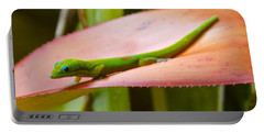 Gold Dust Day Gecko #2 Portable Battery Charger by Venetia Featherstone-Witty