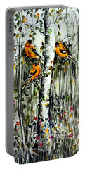 Gold Finches Portable Battery Charger