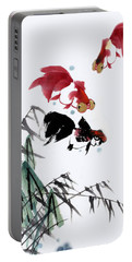 Portable Battery Charger featuring the painting Gold Fish by Yufeng Wang