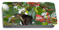 Portable Battery Charger featuring the photograph Gold Rim Swallowtail by Ron Davidson