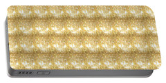 Gold Sparkle Tone Pattern Unique Graphics Portable Battery Charger by Navin Joshi