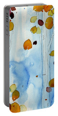 Golden Aspens Portable Battery Charger by Dawn Derman