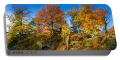 Golden Autumn On Neurathen Castle Portable Battery Charger