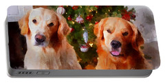 Golden Christmas Portable Battery Charger
