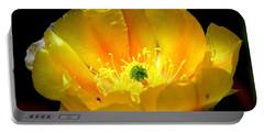 Golden Desert Flower Portable Battery Charger