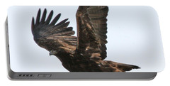 Portable Battery Charger featuring the photograph Golden Eagle Takes Off by Bill Gabbert