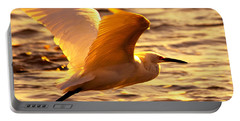 Golden Egret Bird Nature Fine Photography Yellow Orange Print  Portable Battery Charger