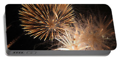 Golden Fireworks Portable Battery Charger by Rowana Ray