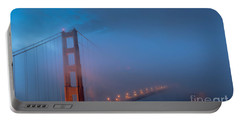 Golden Gate At Blue Hour Portable Battery Charger