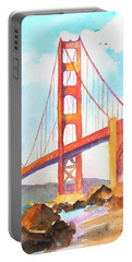 Golden Gate Bridge 3 Portable Battery Charger by Carlin Blahnik