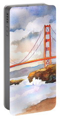 Golden Gate Bridge 4 Portable Battery Charger by Carlin Blahnik