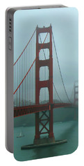 Golden Gate Bridge And Partial Arch In Color  Portable Battery Charger