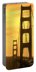 Portable Battery Charger featuring the photograph Golden Gate Bridge  by Clare Bevan