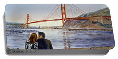 Golden Gate Bridge San Francisco - Two Love Birds Portable Battery Charger