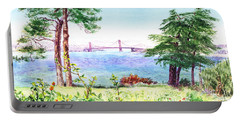 Golden Gate Bridge View From Lincoln Park San Francisco Portable Battery Charger