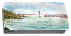 Golden Gate Bridge View From Point Bonita Portable Battery Charger