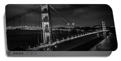 Golden Gate Evening- Mono Portable Battery Charger by Linda Villers
