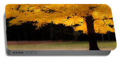 Golden Glow Of Autumn Fall Colors Portable Battery Charger by Jeff Folger