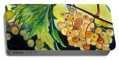 Portable Battery Charger featuring the painting Golden Grapes by Julie Brugh Riffey