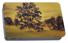 Portable Battery Charger featuring the painting Golden Landscape by Judith Rhue