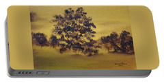 Golden Landscape Portable Battery Charger by Judith Rhue