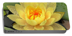 Portable Battery Charger featuring the photograph Golden Lily by Kim Bemis