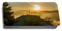 Golden Morning On The Lilienstein Portable Battery Charger