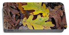 Golden Oak Leaf Duet Portable Battery Charger