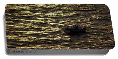 Portable Battery Charger featuring the photograph Golden Ocean by Miroslava Jurcik