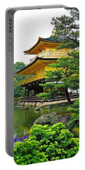 Golden Pavilion - Kyoto Portable Battery Charger by Juergen Weiss