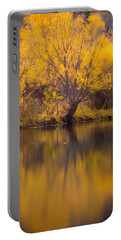 Portable Battery Charger featuring the photograph Golden Pond by Steven Milner