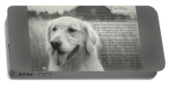 Golden Retriever The Way Portable Battery Charger