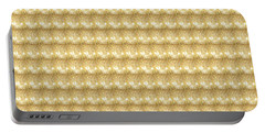 Golden Sparkle Tone Pattern Unique Graphic V2 Portable Battery Charger by Navin Joshi